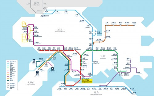 MTR network map (2013)