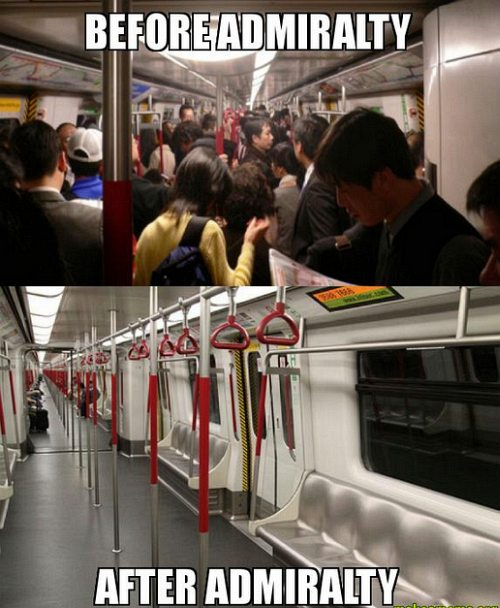 Hong Kong meme - MTR train after Admiralty station