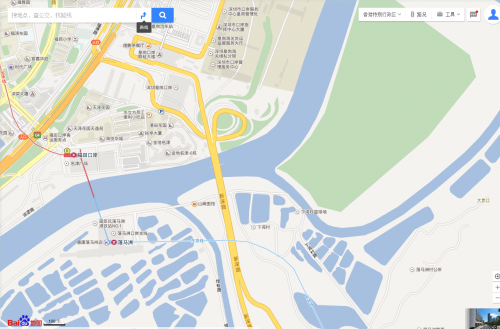 Baidu Maps - Huanggang Port on the Hong Kong - China border