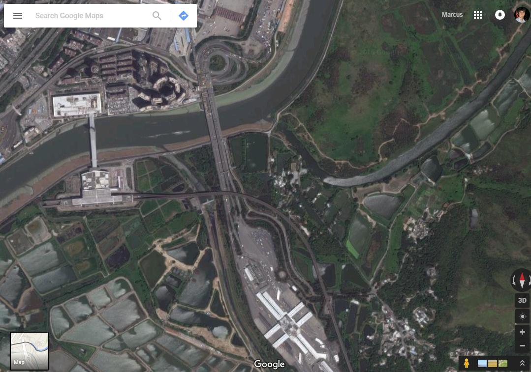 Distorted Maps On The Hong Kong China Border