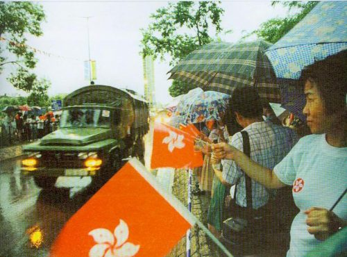 People's Liberation Army arrive into Hong Kong in 1997 (via big5.locpg.hk)