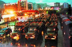 People's Liberation Army arrive into Hong Kong in 1997 (via china.com.cn)