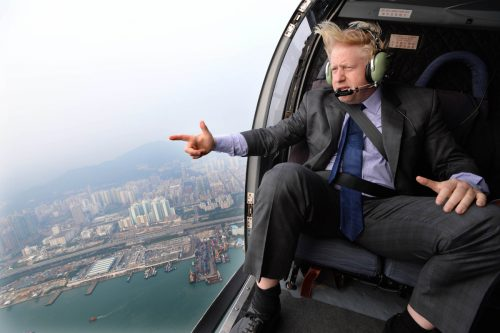 Boris Johnson in the skies of Hong Kong
