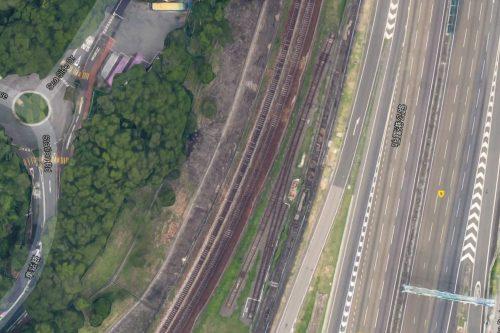 MTR East Rail training track north of University station